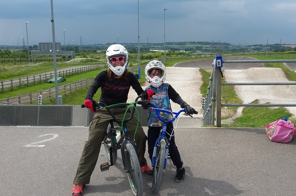 BMX-ing with Jamie at Cyclopark