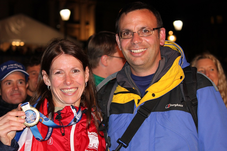 Anthony and me at the World's medal ceremony at Trafalgar Square