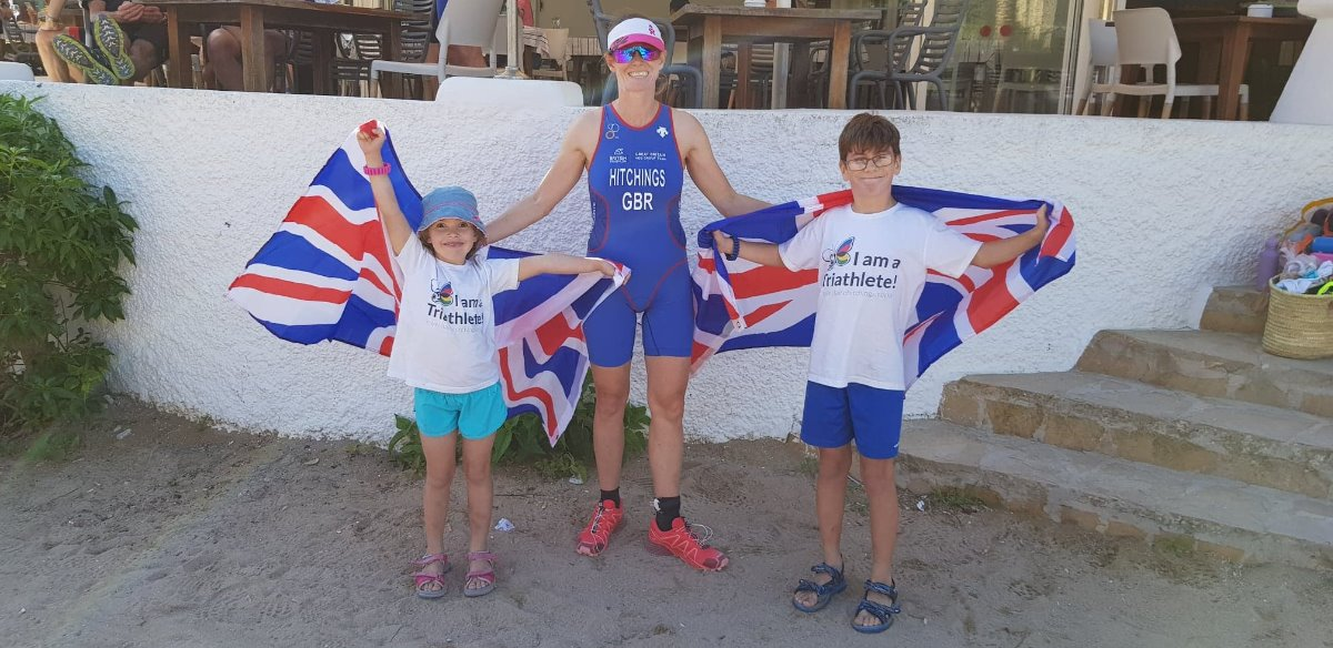 With my supporters pre-race at the European Cross Duathlon Championships in Ibiza 2018